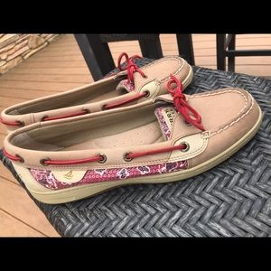 Women's Sperry Top Sider Biscayne Red Sequin